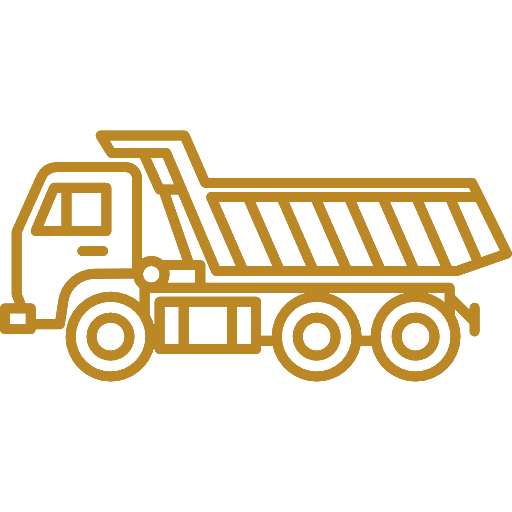 34 ton side tipper truck icon